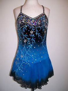 CUSTOM MADE TO FIT ICE SKATING DRESS TWIRLING COSTUME #Unbranded
