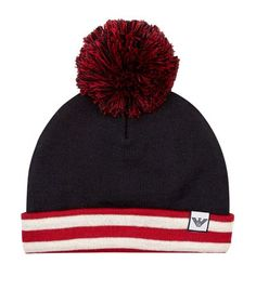 Armani Junior Striped Pom Pom Hat available to buy at Harrods. Shop online and earn Rewards points.