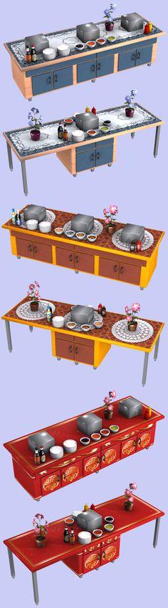 Customizable Buffet Tables - AMAZING! - Exnem's Sims Forum