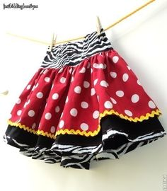 A little more going on in this Minnie Mouse skirt.