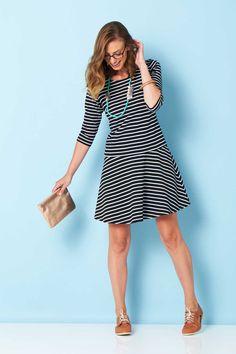 HANDPICKED BY BIRDS - Drop Waist Stripe Dress