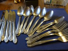 IC Lifetime Cutlery Stainless made in Taiwan Mixed Lot of Forks Spoons & Knives #ICLifetime