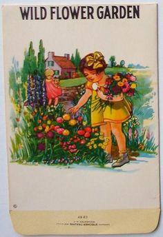 Wild Flower Garden - Vintage Flower Seed Packet