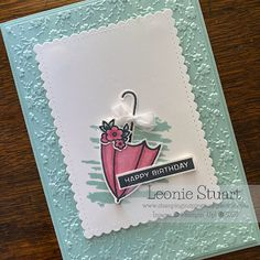 Stamping Inspiration By Leonie 21st Birthday Cards, Homemade Birthday Cards, It's Your Birthday, Homemade Cards, Umbrella Cards, Under My Umbrella, Cards For Friends, Paper Pumpkin, Stampin Up Cards