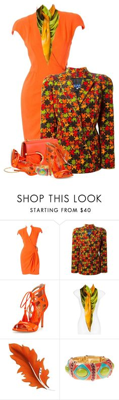 """""""Mugler Jig Saw Puzzle Jacket"""" by flowerchild805 ❤ liked on Polyvore featuring Thierry Mugler, Sam Edelman and Coldwater Creek"""
