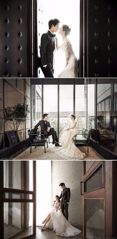 Classy and Elegant Indoor Studio Pre-wedding Photoshoot In Korea That Ticks All The Right Boxes - Timetwo Studio, Modern, Indoor Wedding Photography Poses, Wedding Poses, Wedding Shoot, Bride Groom Poses, Italian Wedding Venues, Pre Wedding Photoshoot, Indoor Wedding Photos, Photo Couple, Foto Pose