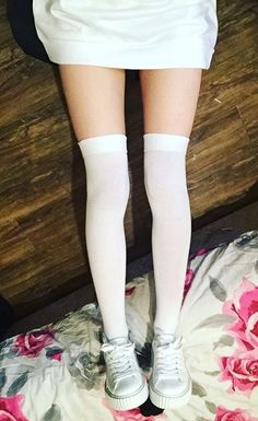~ Thinspo ~ Thigh socks ~ Tiny Thighs ~ Autumn Thinspo ~ Winter Thinspo ~ pale thinspo ~ Thigh gap ~ dainty dolls ~ skinny ~ thin ~