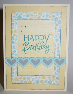 Hand stamped birthday card by d using the happy birthday plain jane hand stamped birthday card by christine miller using the happy birthday plain jane from verve m4hsunfo