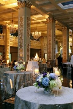 The architecture and design of The Cadre Building, lends itself to so many decorating options. This is a party planner/ bride's dream! Click the link to learn more. Image Credit: Weblisting