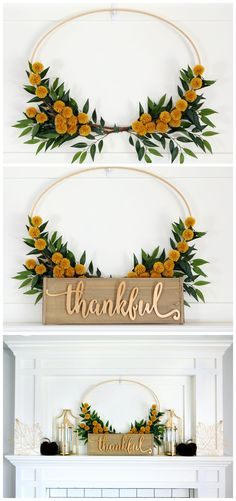 Pretty Fall Mantel #