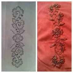 Best 12 Saloua Zaki's media statistics and analytics – SkillOfKing. Zardosi Embroidery, Hand Embroidery Dress, Embroidery Neck Designs, Indian Embroidery, Silk Ribbon Embroidery, Hand Embroidery Patterns, Embroidery Stitches, Machine Embroidery, Fabric Painting