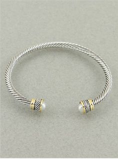 Womens Cable Bracelet | - Cuff / Hinge / Bangle | - Metal Works | 4mm | Rhodium-gold-pearl Hail Mary Gifts,http://www.amazon.com/dp/B00ESK08T6/ref=cm_sw_r_pi_dp_YGnksb1AAZE4AKMH