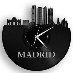 Madrid Vinyl Wall Clock