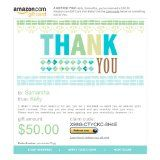 Amazon Gift Card - E-mail - Thank You - Typography.