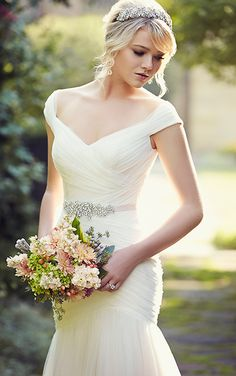 Bridal Gown Available at Ella Park Bridal | Newburgh, IN | 812.853.1800 | Essense of Australia - Style D1802 | Shown in all the major ad campaigns