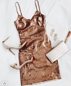 Glisten to Me Copper Sequin Surplice Mini Dress Check more at moda. Glisten to Me Copper Sequin Surplice Mini Dress Check more at moda. Hoco Dresses, Pretty Dresses, Homecoming Dresses, Prom, Awesome Dresses, Tight Dresses, Casual Dresses, Look Fashion, Fashion Outfits