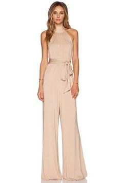 Shop for Rachel Pally Shaun Jumpsuit in Bamboo at REVOLVE. Free day shipping and returns, 30 day price match guarantee. Jumpsuit Formal Wedding, Formal Jumpsuit, Cream Jumpsuit, Fitted Jumpsuit, Lace Jumpsuit, Rachel Pally, Mein Style, Elegantes Outfit, Blush Dresses