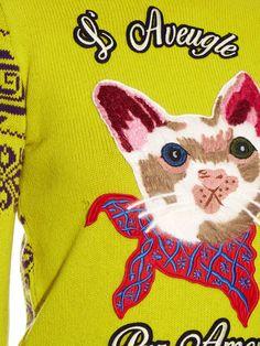 Cat appliqué wool sweater | Gucci | MATCHESFASHION.COM