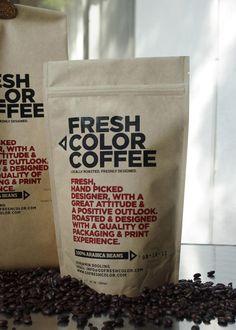 Self Promotion: Fresh Color Coffee ScreenPrinted