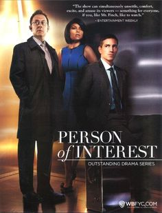 The Person of Interest Team, Harold Finch, Detective Carter, and John Reese !!