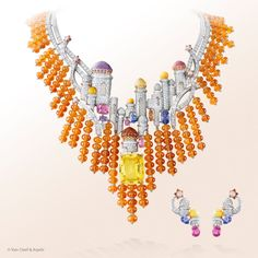 Van Cleef & Arpels Izmir set from the High Jewelry collection Bals de Légende.