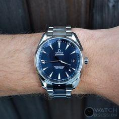 Monday Blues OMEGA Seamaster Aqua Terra Master Co-Axial Watch - Blue Dial