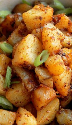 Spicy Creole Potatoes #breakfast #recipes #brunch #morning #recipe