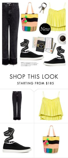 """""""RACHEL COMEY Slim Legion High-Rise Jeans"""" by ifchic ❤ liked on Polyvore featuring Rachel Comey, Apiece Apart, Mother of Pearl, Sophie Anderson, CB2 and contemporary"""