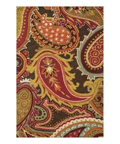 Look what I found on #zulily! Loloi Rugs Brown & Red Mayfield Wool Rug by Loloi Rugs #zulilyfinds