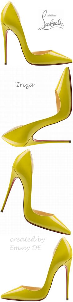 Christian Louboutin ~ 'Iriza'  Canary Leather Pumps Spring 2015