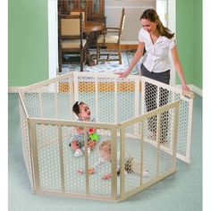 Summer Infant Secure Surround Play Safe Play Yard. Would be nice for the dogs also.