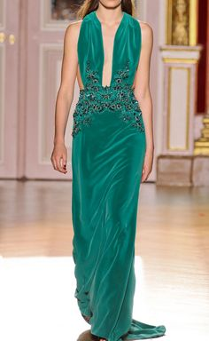 Luscious Color - Emerald Green - Zuhair Murad Fall 2012 Couture
