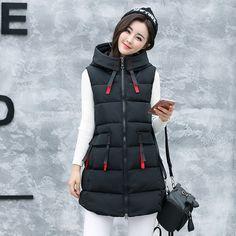 2017 г. зимняя новая теплая Женская длинная куртка с капюшоном вниз хлопок  U1809. купить 2ddaefa9015