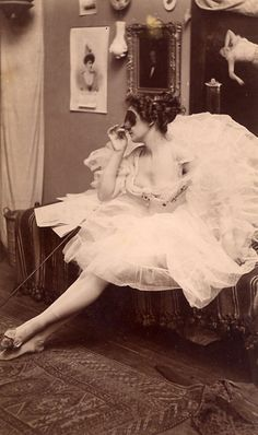Masked Ballerina, c. 1880    Albumen Print from Kingston Collection