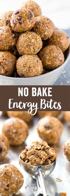 No bake energy bites packed with protein and nutritious ingredients for your on the go lifestyle. These healthy little snacks offer a quick boost, perfect for slow afternoons or recovering from a workout. via @foodiegavin
