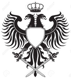 crests: Double-headed eagle with crown and swords. Original eagle crest. Easy