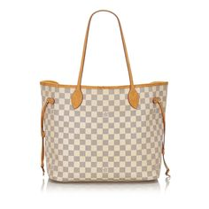 The Louis Vuitton Neverfull Damier Azur Mm White Leather Tote is a top 10 member favorite on Tradesy. White Louis Vuitton Bag, Louis Vuitton Dress, Louis Vuitton Neverfull Damier, Louis Vuitton Totes, Pre Owned Louis Vuitton, Vintage Louis Vuitton, Louis Vuitton Handbags, Tote Bag, Bags