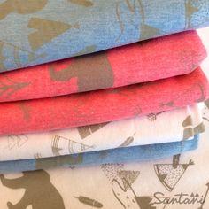 Estampa NATIVO sobre gabardina y jersey de algodón