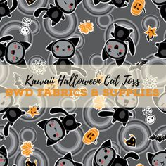 7acb59c97cb BWD Exclusives. Kawaii HalloweenHalloween CatCustom Printed FabricPrinted  ...