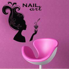 Wall decal decor decals art girl beauty salon by DecorWallDecals, $28.99