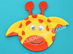 Paper Plate Giraffe Craft for Kids - Art Lessons of Making Fancy Paper Plates Animals
