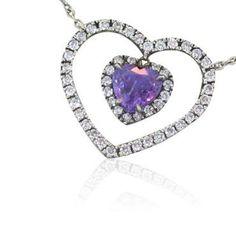Fred Leighton Platinum Diamond Purple Sapphire Necklace