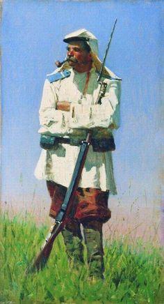 Василий Верещагин - Туркестанский солдат в зимней форме (1873)