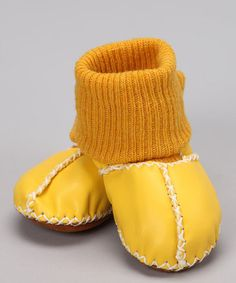 Take a look at this Yellow Suede Sock Booties by Baby Shower Perfect: Gift Ideas on @zulily today!