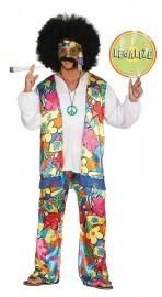 Far out dude, chill and enjoy the vibes of the and in this free spirited flower power men's Rainbow Hippy Costume. The adult hippie costume features a pair of vibrant flower power flared trousers with an elasticated waist and a co-ordinating waistcoat. 1960s Costumes, Funny Costumes, Adult Costumes, Hippie Man, Hippie Shirt, Blue Unicorn Onesie, Costume Hippie, Flower Power