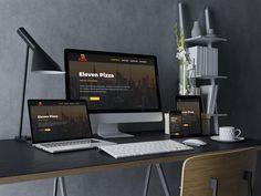 Eleven Pizza Web Design, Monitor, Pizza, Electronics, Advertising Agency, Design Web, Website Designs, Site Design
