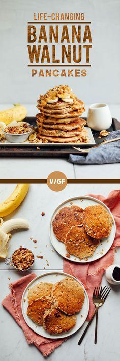 LIFE-CHANGING Banana Pancakes in 20 minutes (vegan and gluten-free)