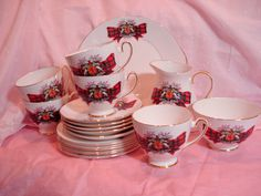Thee Set Royal Stewart Royal Grafton Tea door CottageGardenVintage