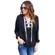 Plus size tops 2017 grey blue red black hoodie long sleeve shirt top tees women clothing loose fit ladies hoodies casual A25978