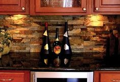 Cultured Stone Kitchen Backsplash. This would be a beautiful bar backsplash.
